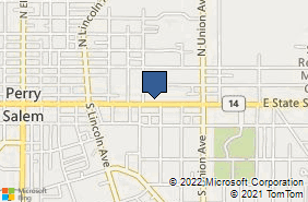 Bing Map of 1070 E State St Ste A Salem, OH 44460
