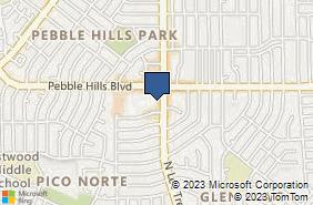 Bing Map of 10780 Pebble Hills Blvd Ste J El Paso, TX 79935