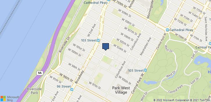 1090 Amsterdam Ave New York, NY, 10025 Map