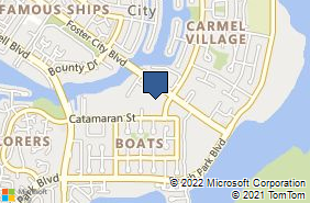 Bing Map of 1098 Foster City Blvd Ste 308 Foster City, CA 94404