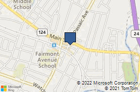 Bing Map of 11 S Passaic Ave Chatham, NJ 07928
