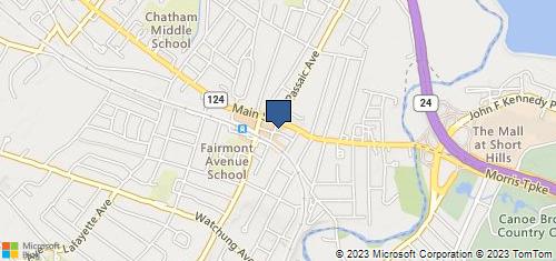Bing Map of 11 S Passaic Ave Chatham, NJ 07928
