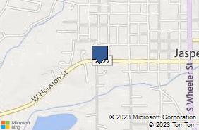 Bing Map of 110 Marvin Hancock Dr Jasper, TX 75951
