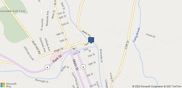110 Park St Honesdale, PA, 18431 Map