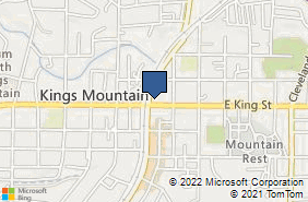 Bing Map of 110 W King St Ste 3 Kings Mountain, NC 28086