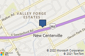 Bing Map of 1100 W Valley Rd Ste 10 Wayne, PA 19087