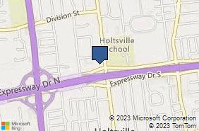 Bing Map of 1100 Waverly Ave Ste 5 Holtsville, NY 11742