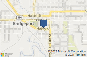Bing Map of 1105 Hovey St Bridgeport, TX 76426