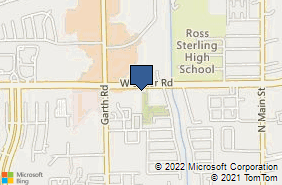 Bing Map of 1109 W Baker Rd Baytown, TX 77521