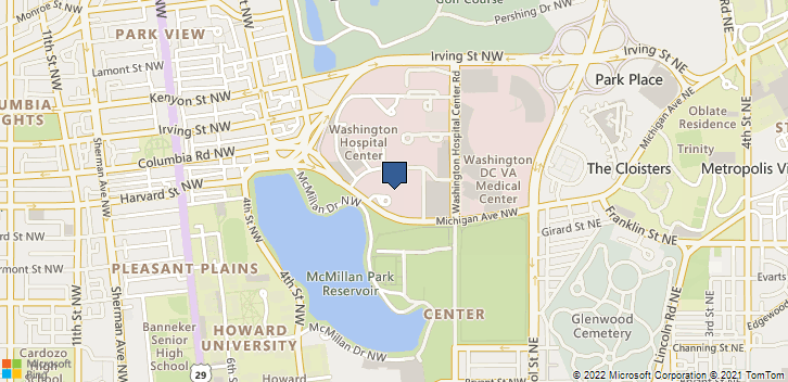 111 Michigan Ave Nw Washington, DC, 20010 Map