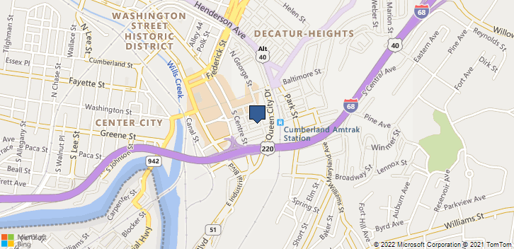 111 South George Street Cumberland, MD, 21502 Map