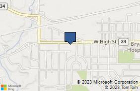 Bing Map of 1111 W High St Bryan, OH 43506
