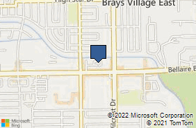 Bing Map of 11110 Bellaire Blvd Ste 105 Houston, TX 77072