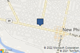 Bing Map of 112 4th St Nw New Philadelphia, OH 44663