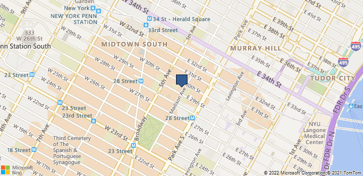 112 Madison Avenue New York, NY, 10016 Map