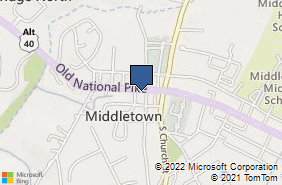Bing Map of 112 W Main St Middletown, MD 21769