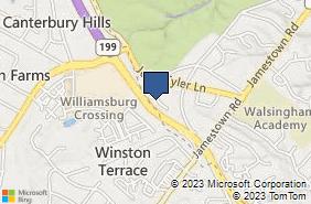 Bing Map of 1126 Professional Dr Williamsburg, VA 23185