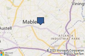Bing Map of 1127 Vet Mem Hwy Sw Ste 116 Mableton, GA 30126
