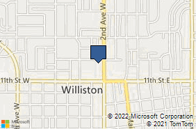 Bing Map of 1135 2nd Ave W Ste 207 Williston, ND 58801