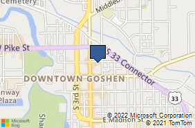 Bing Map of 114 E Clinton St Goshen, IN 46528