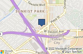 Bing Map of 11445 Jefferson Blvd Culver City, CA 90230