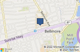 Bing Map of 115 Bedford Ave Bellmore, NY 11710