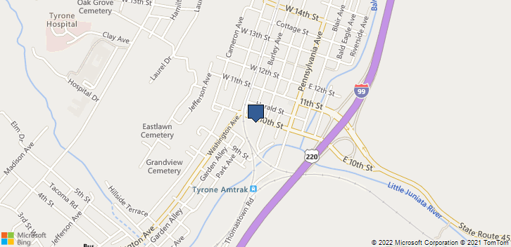 115 W 10th St Tyrone, PA, 16686 Map