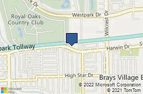 Bing Map of 11538 Harwin Dr Houston, TX 77072