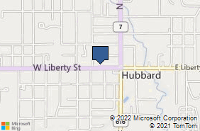 Bing Map of 116 W Liberty St Hubbard, OH 44425