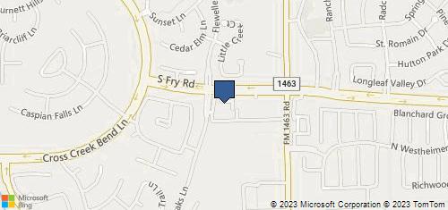 Bing Map of 11605 S Fry Rd Ste 103 Fulshear, TX 77441