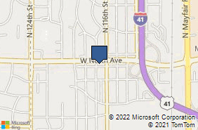 Bing Map of 11635 W North Ave Milwaukee, WI 53226