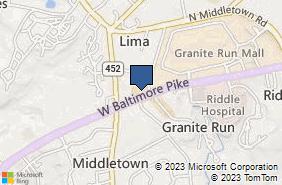Bing Map of 1165 W Baltimore Pike Media, PA 19063