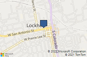 Bing Map of 117 W San Antonio St Lockhart, TX 78644