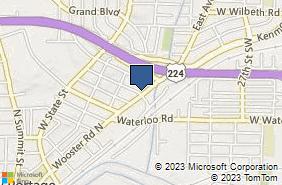 Bing Map of 1172 Wooster Rd N Barberton, OH 44203