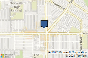 Bing Map of 11729 Petticoat Ln Norwalk, CA 90650