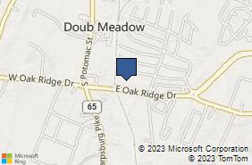 Bing Map of 118 E Oak Ridge Dr Ste 1000 Hagerstown, MD 21740