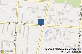 Bing Map of 1181 E Landis Ave Ste 4 Vineland, NJ 08360