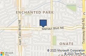 Bing Map of 11819 Menaul Blvd Ne Ste A Albuquerque, NM 87112