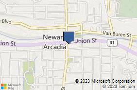 Bing Map of 119 E Union St Newark, NY 14513