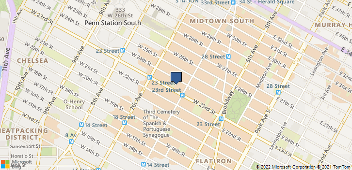 119 W 23rd St New York, NY, 10011 Map