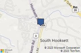 Bing Map of 1193 Hooksett Rd Hooksett, NH 03106