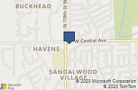 Bing Map of 11931 W Central Ave Ste 300 Wichita, KS 67212