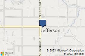 Bing Map of 12 E Jefferson St Jefferson, OH 44047