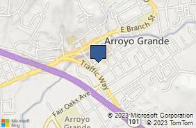 Bing Map of 120 Nelson St Arroyo Grande, CA 93420