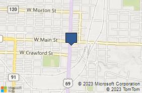 Bing Map of 120 S Austin Ave Ste 102 Denison, TX 75020