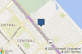 Bing Map of 1200 Dore Ave Ste 203 San Mateo, CA 94401