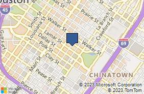 Bing Map of 1200 McKinney St Ste 309 Houston, TX 77010