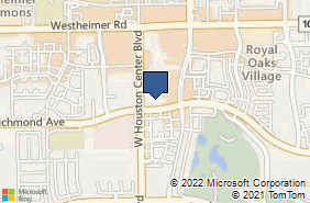 Bing Map of 12000 Richmond Ave Houston, TX 77082