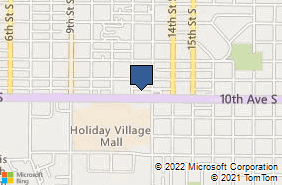 Bing Map of 1201 10th Ave S Ste 103 Great Falls, MT 59405