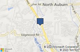 Bing Map of 1201 Grass Valley Hwy Auburn, CA 95603